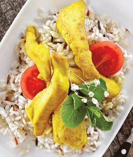 Маклюба (курица с рисом и овощами)